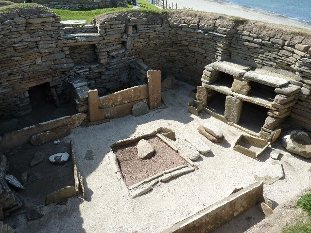 Skara Brae House Showing Dresser And Box Beds